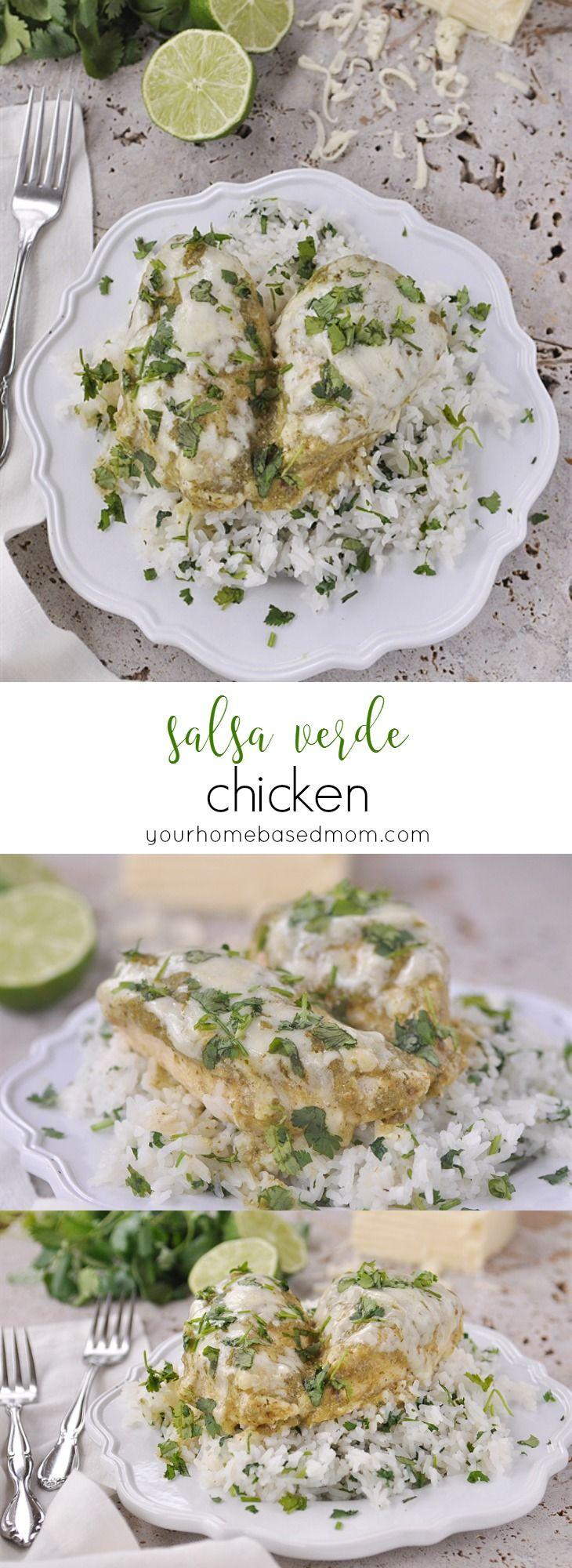 Salsa Verde Chicken only has four ingredients!