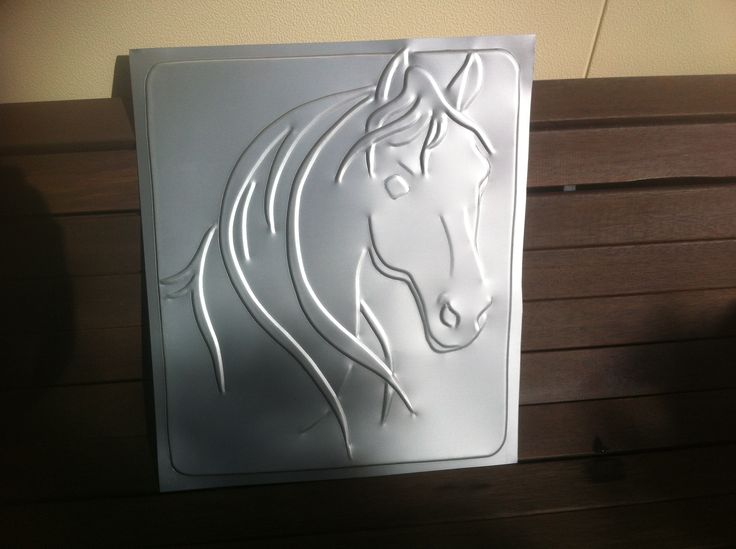 Horse - anodised sheet