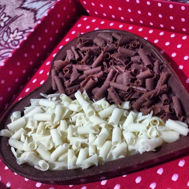Chocolate em formato de coração