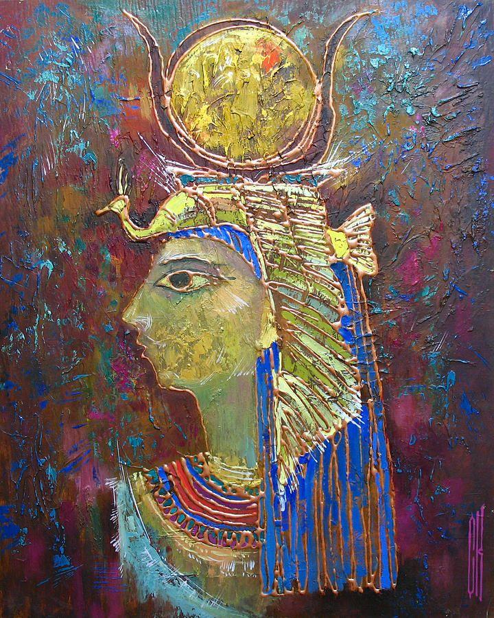 Hathor. Goddess Of Egypt Painting by Valentina Kondrashova