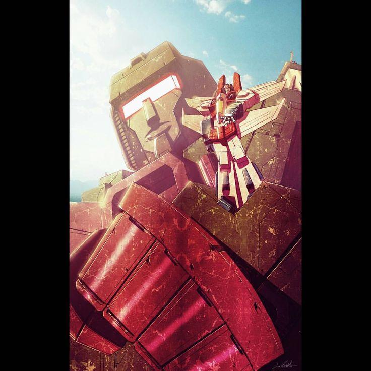 Starscream welcoming you to Cybertron by Livio Ramondelli #starscream #transformers #devastator #livioramondelli #comics #idw