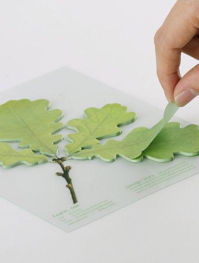 Leaf-It Post-It Notes - Green Oak / Notas Post-It en forma de hojas verdes de roble: 7 99, Green Oak, Post, Leaf It Post It, Leaf Post Its, Leaves Post, Post It Leaves