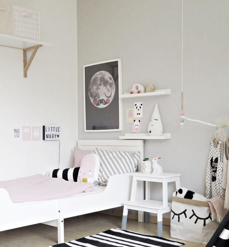 Wonen grijze muur kinderkamer home pinterest room - Bed grijze volwassen ...
