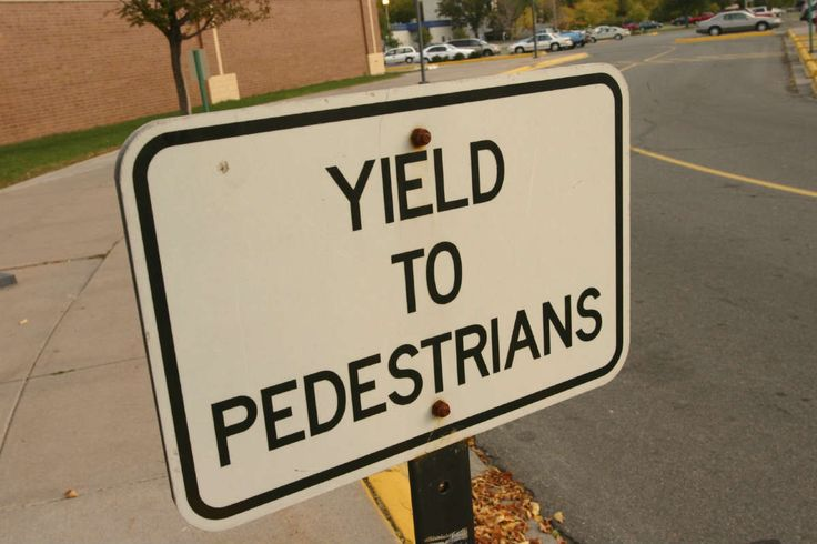 Failure to Yield Right of Way to Pedestrians
