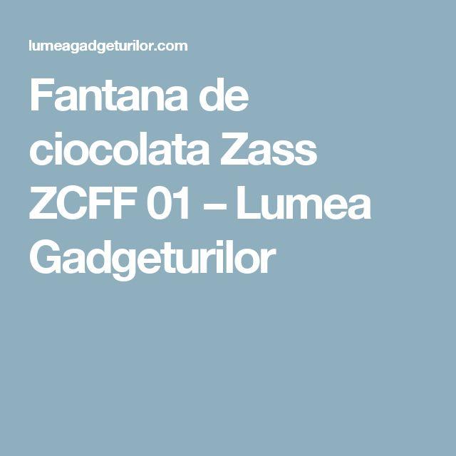 Fantana de ciocolata Zass ZCFF 01 – Lumea Gadgeturilor