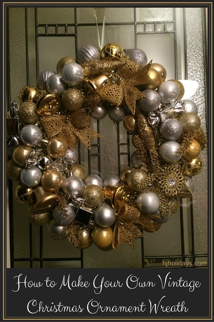 Diy retro christmas decorations - How To Make Your Own Vintage Christmas Ornament Wreath