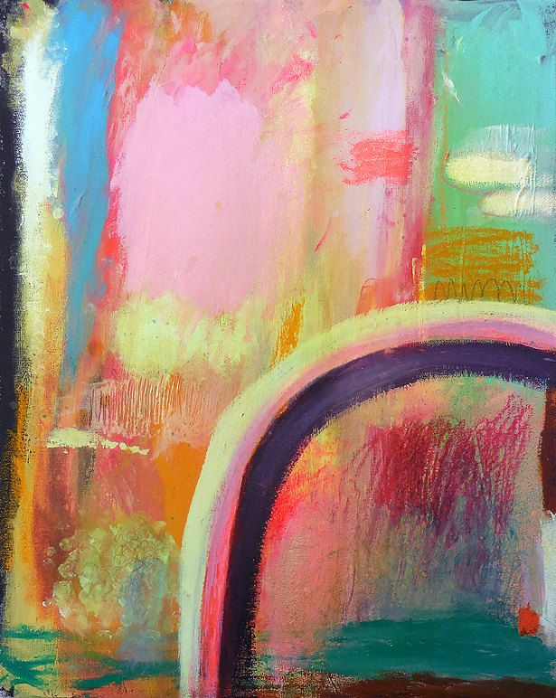 canvaslifestyle: Original pittura astratta arte tecnica mista pittura astratta su tela neon moderna grezzi testurizzati crudo estraneo arcobaleno bohemien luxe