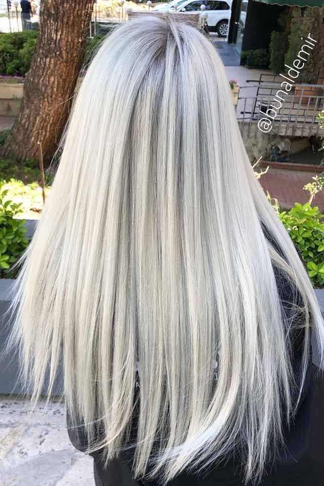 Long Straight Hairstyles Icy Blonde Color We Have Helpful Tips