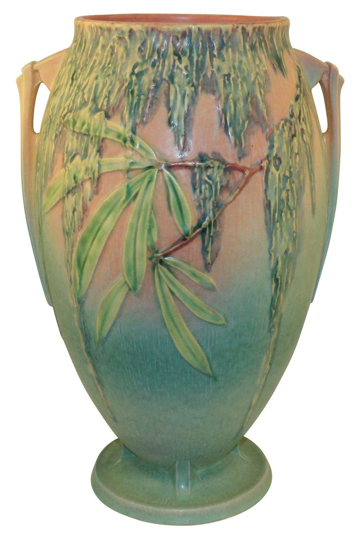 137 best roseville vintage pottery passion images on pinterest roseville pottery moss green and pink vase 786 14 reviewsmspy