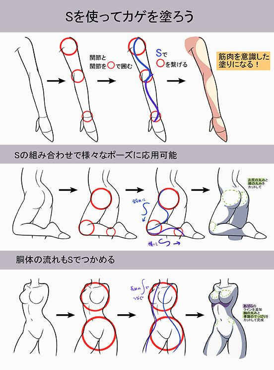 """S字の影  セクシー感が出る塗り方はS字にあり!肌の塗り方講座