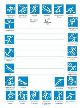 Winter Olympics 2018 Quick Write paper