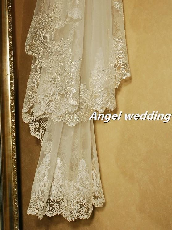 Vintage Wedding Veil Bridal Veil Cathedral by AngelWeddingDress, $200.00