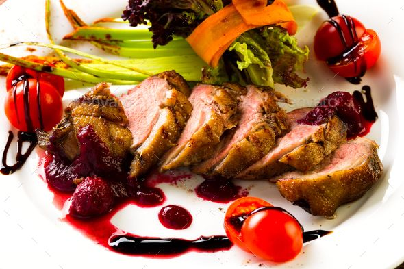 Duck baked with vegetables and herbs - Stock Photo - Images Download here : https://photodune.net/item/duck-baked-with-vegetables-and-herbs/20085786?s_rank=4&ref=Al-fatih