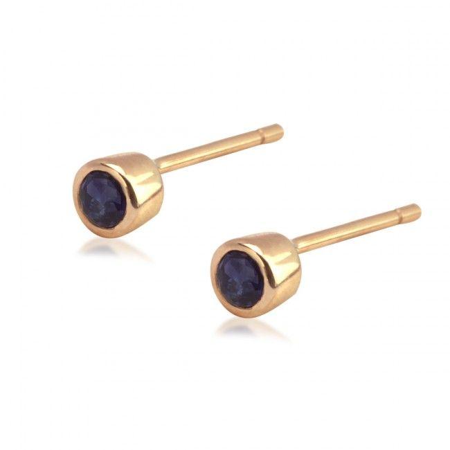Złote Kolczyki z Szafirami, 290,70 PLN, www.Bejewel.me/zlote-kolczyki-782 #jewellery #gold #bejewelme #bjwlme #shoponline #accesories #pretty #style