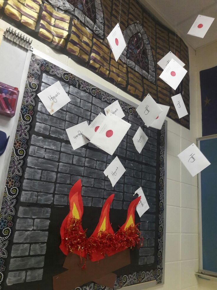 Harry's Hogwarts letters in Harry Potter classroom                                                                                                                                                                                 More