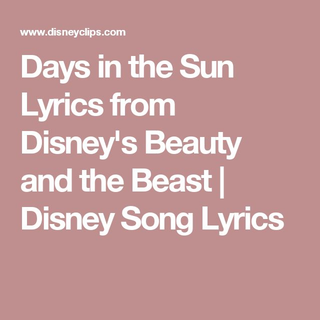 Beauty And The Beast Sheet Music With Lyrics: 47 Best Music Images On Pinterest