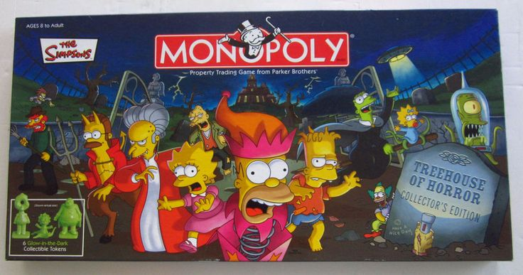 The Simpsons Monopoly Treehouse of Horror Collector's Edition  Board Game  #ParkerBrothersUSAopoly