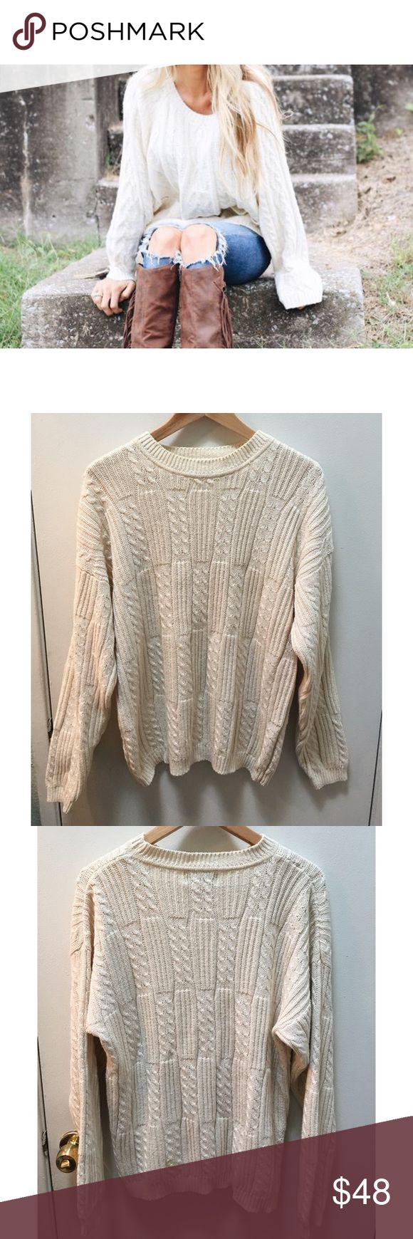 Knox• vintage 80's jumper🍂 A soft feel & slouchy fit define the need-now appeal of this comfy cable knit sweater! This beauty features a cool cable knit design and texture. Perfect to wear on any chilly day with your fav jeans & boots! Purchased in a Brooklyn vintage shop! In great condition, no rips or stains.❣️will fit oversized for XS- M/L❣️ 🍂Bundle & Save on shipping🍂     🍁I ship same day if purchased before 4pm PST M-F (I do not trade) Vintage Sweaters Crew & Scoop Necks