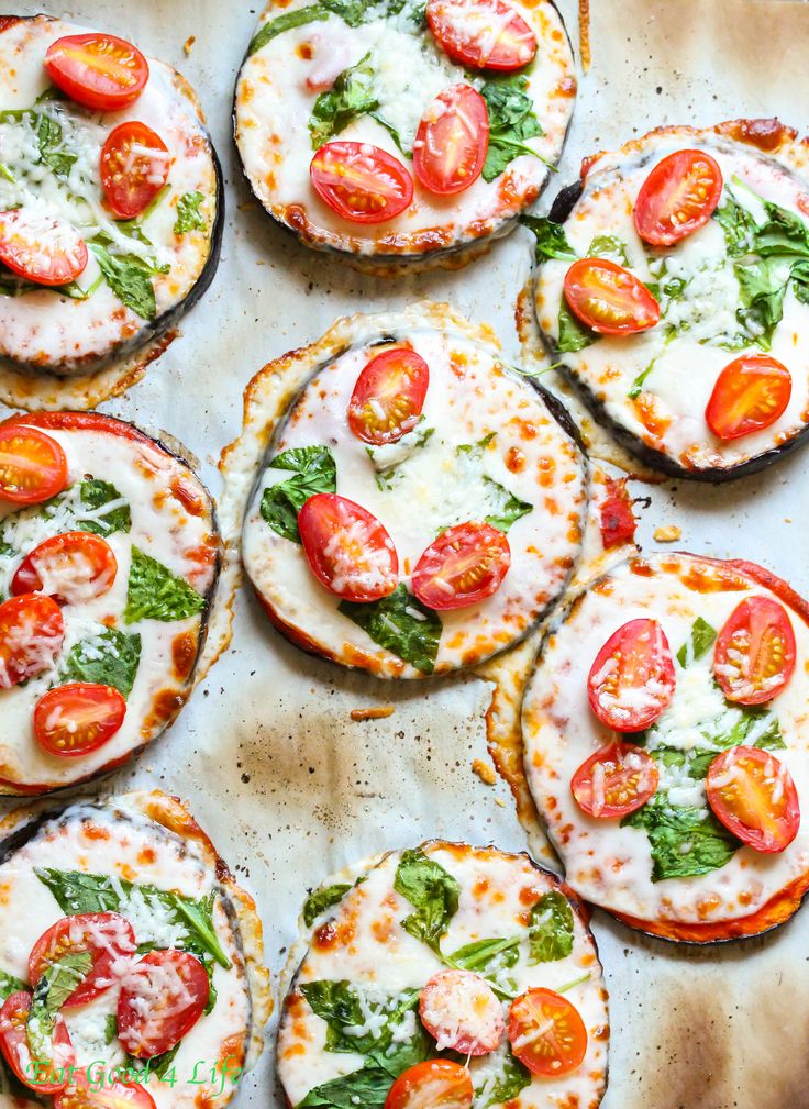 Eggplant Pizzas // yummy, healthy, easy via Eat Good 4 Life