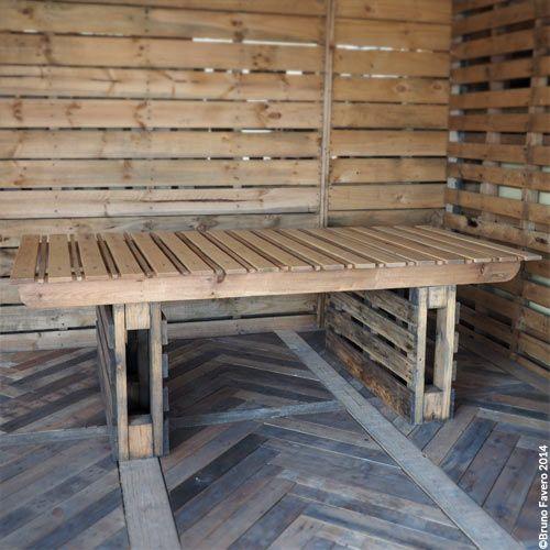 17 migliori idee su mobili da giardino pallet su pinterest - Tavolo con pedane ...