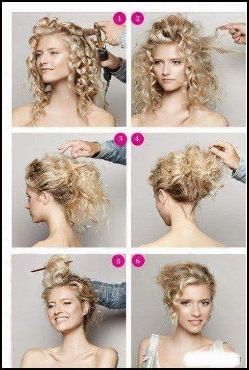 Quick Updos For Medium Hair Hair Styles Long Hair Styles Curly Hair Styles