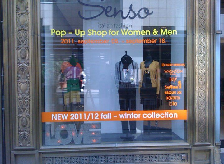 Senso Pop Up in 2011 in Fashion Street