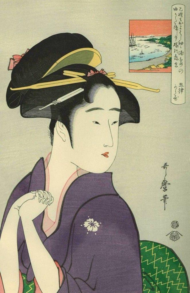 las bellas mujeres de utamaro kitagawa
