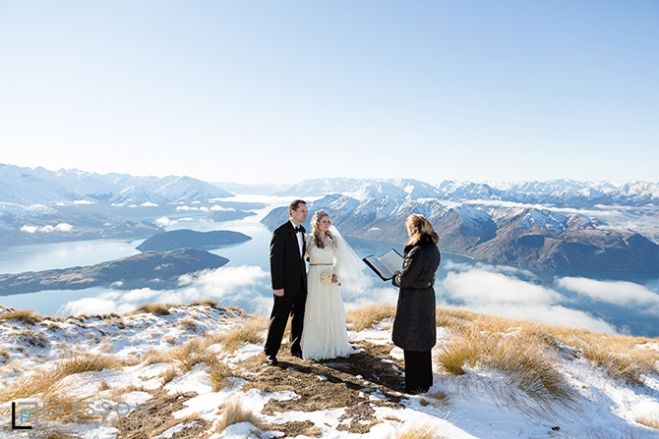 Winter Heli Wedding ceremony