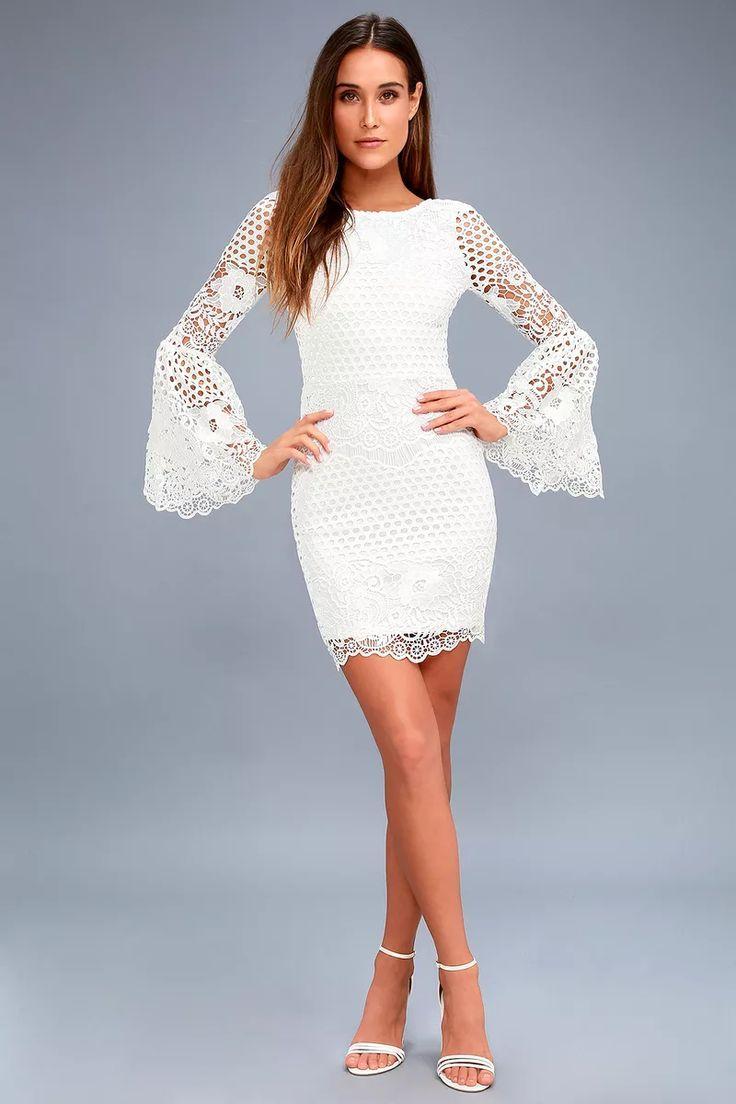Kenna White Crochet Lace Sleeveless Bodycon Dress White Lace Long Sleeve Dress Long Sleeve Lace Dress Lace White Dress [ 1104 x 736 Pixel ]