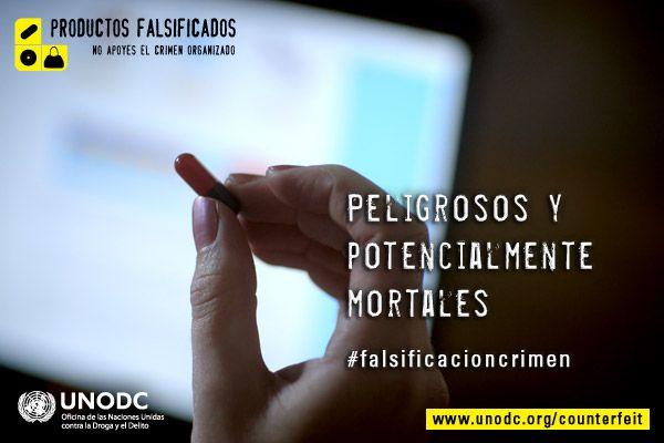 Los medicamentos fraudulentos pueden ser peligrosos y potencialmente letales - Mira el nuevo anuncio de servicio público de UNODC sobre este negocio criminal que mueve miles de millones de dólares a través de http://youtu.be/y4zjLUwCjDA y visita la página web: www.unodc.org/counterfeit.