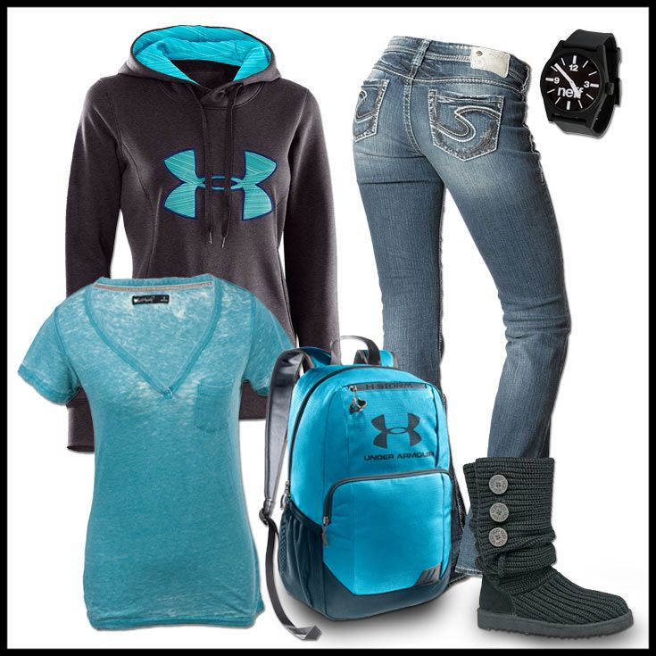 Under Armour inspired outfit for school.
