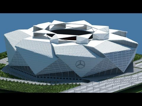 Minecraft - TIMELAPSE - Mercedes Benz Stadium (Atlanta Falcons New) [Official] + DOWNLOAD - YouTube