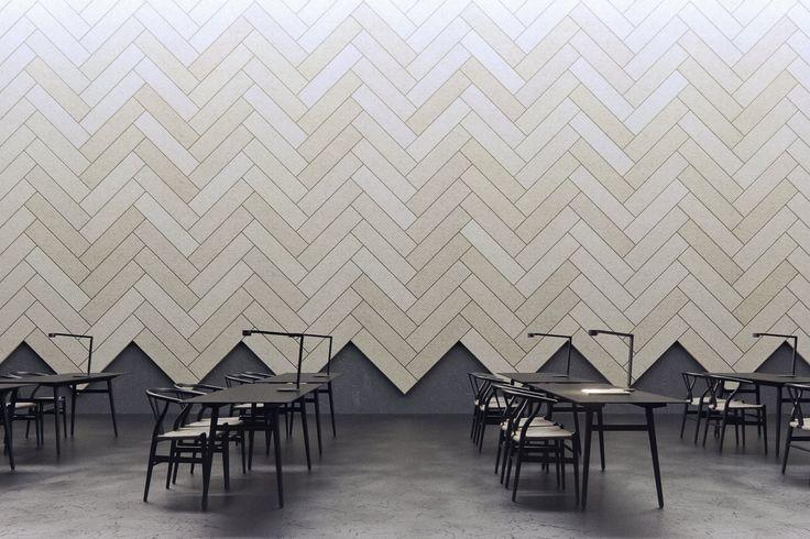 Decorative acoustical panels BAUX ACOUSTIC TILE PLANK by BAUX design Form Us With Love