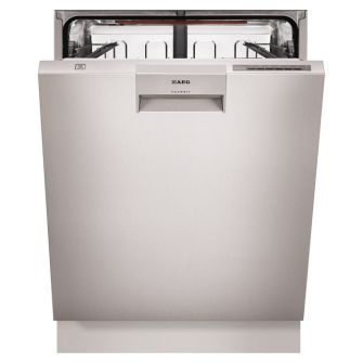 AEG 60cm stainless steel underbench dishwasher (model F76672M0P) for sale at L & M Gold Star (2584 Gold Coast Highway, Mermaid Beach, QLD). Don't see the AEG product that you want on this board? No worries, we can order it in for you!