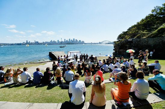 Sydney Harbour Wedding for Central Coast Couple - Bradleys Head Ampitheatre | Photography by Impact Images