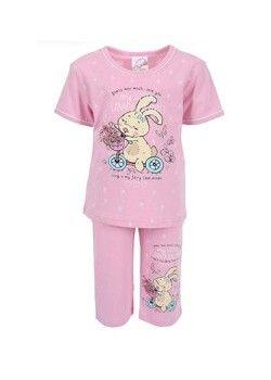 Pijama capri fetite Funny Bunny