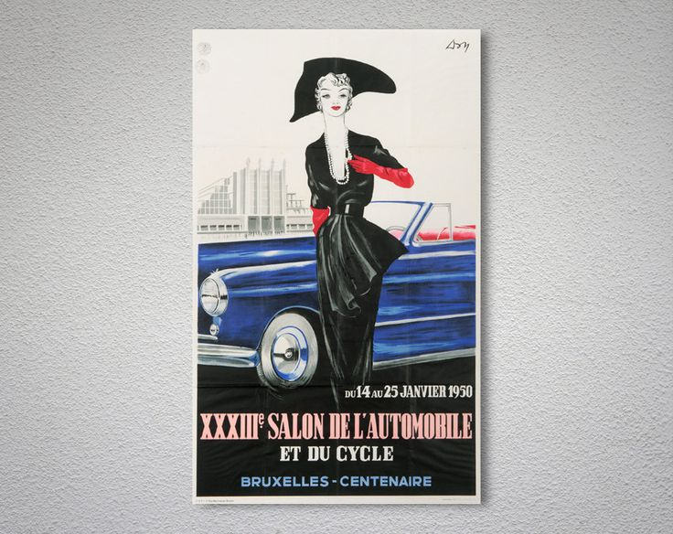 Car Show Brussel, 1950 – Travel Poster
