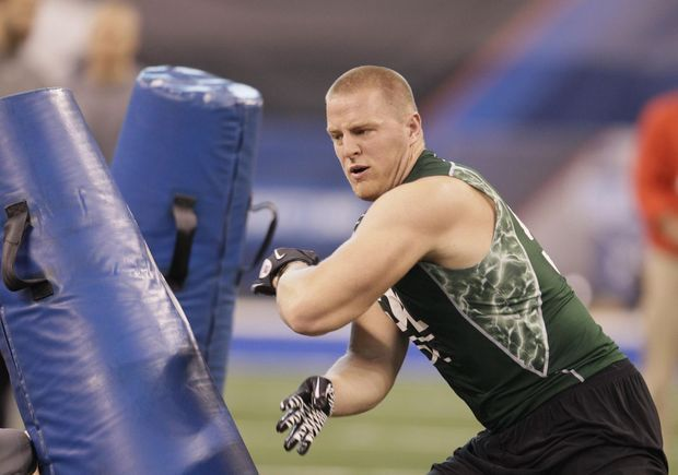 Photos: Former Wisconsin Badgers at the NFL Combine through the years