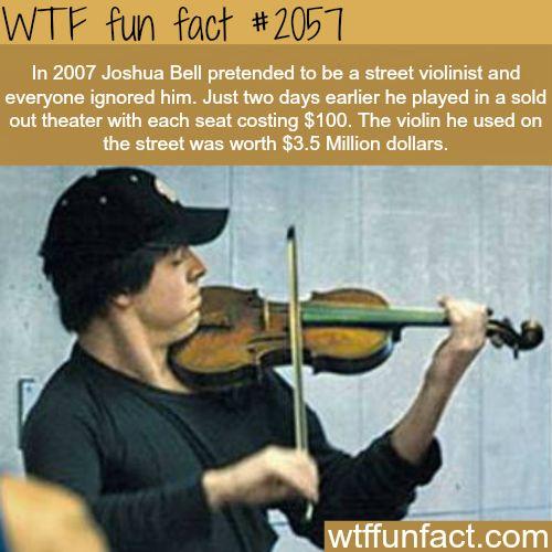Joshua Bell violin -WTF fun facts