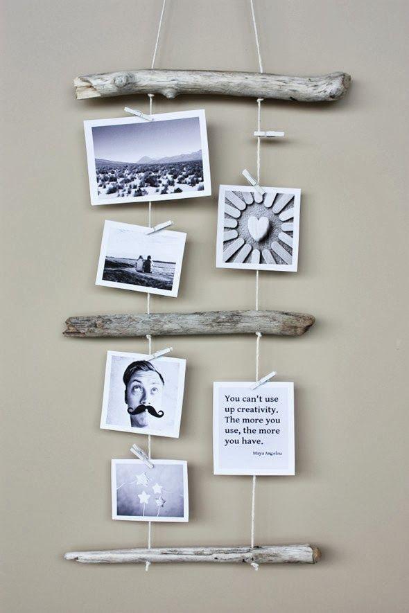 DIY Bello portaretratos rustico - Manualidades para el Hogar | Un Mundo de Manualidades