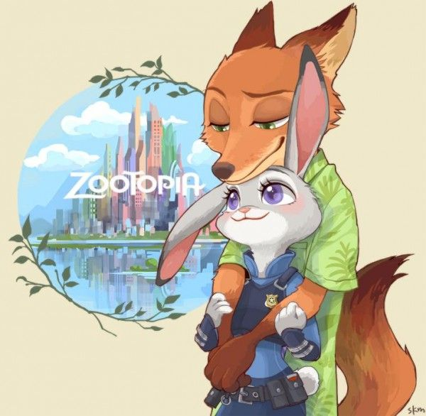 #Zootopie #Dessin de skm #JudyHopps #NickWilde