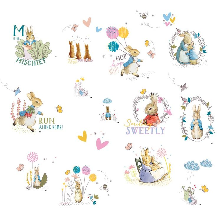 Peter Rabbit Wall Stickers | JoJo Maman Bebe Part 78