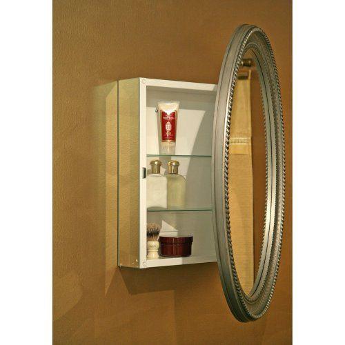 Zenith PMV2532 Pewter Oval Medicine Cabinet