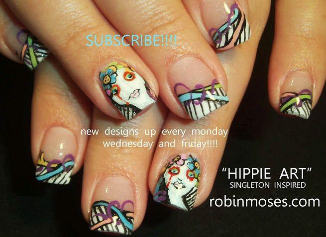 Hippie art nails