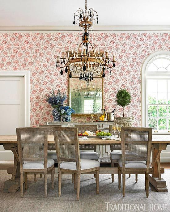Let Your Rooms Bloom With Rose Patterned Wallpaper
