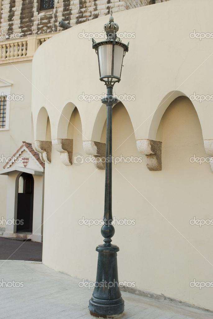 Vintage Street Lamp At Royal Palace, Monaco
