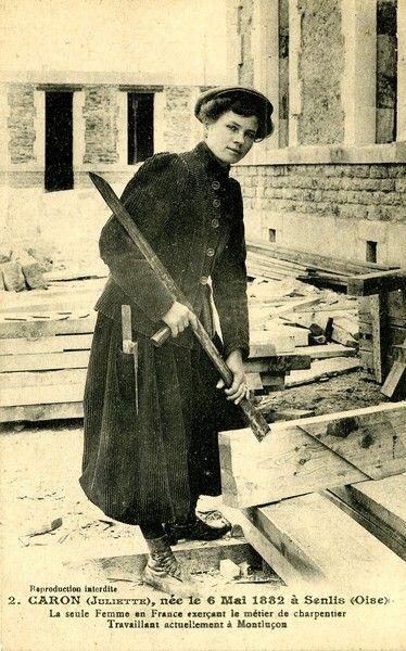 Juliette Caron, the first female compagnon carpenter in France.