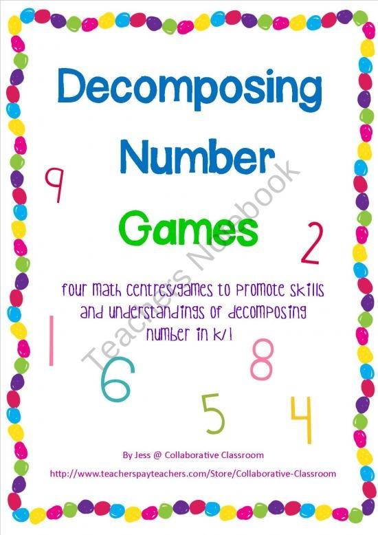 Collaborative Classroom Games ~ Best images about decomposing numbers on pinterest