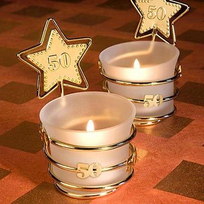 Gold Star Diseño 50.o Favores Aniversario Celebración, 18