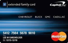 Gm Capital One >> Gmc Extended Family Card Login Capital One Gm Card Apply